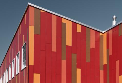 Architecture < Labels < Diego Alborghetti, Art, Building, Facade, House, Illustration, Line, Magenta, Material property < Labels < Diego Alborghetti, Orange, Pattern, Pink < Labels < Diego Alborghetti, Rectangle, Red, Wienerberger