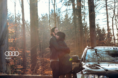 Audi; Autumn; Branch; Car; City car; Diego Alborghetti; Forest; Labels; Logos; Natural environment; Off-road vehicle; Photography; Plant; Sunlight; Tree; Vehicle; Winter; Woodland; Woody plant