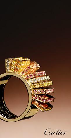 Amber; Bangle; Cartier; Diamond; Diego Alborghetti; Fashion accessory; Gemstone; Gold; Jewellery; Labels; Logos; Metal; Still life photography; Yellow