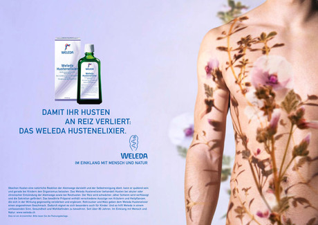 Beauty; Diego Alborghetti; Drink; Fluid; Labels; Logos; Magazine; Muscle; Neck; Plant; Product; Shoulder; Skin; Skin care; Water; Weleda