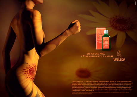 Abdomen; Advertising; Arm; Diego Alborghetti; Flash photography; Graphic design; Graphics; Hand; Labels; Logos; Photography; Weleda