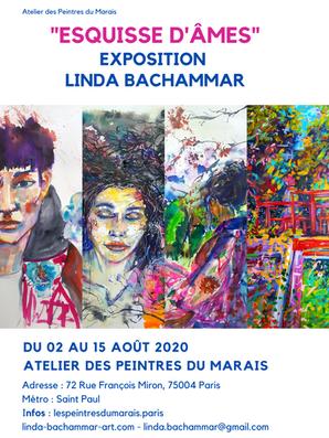"""Affiche """"Esquisse d'âmes"""" en 2020"""