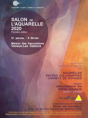 Flyer salon de l'aquarelle 2020, France