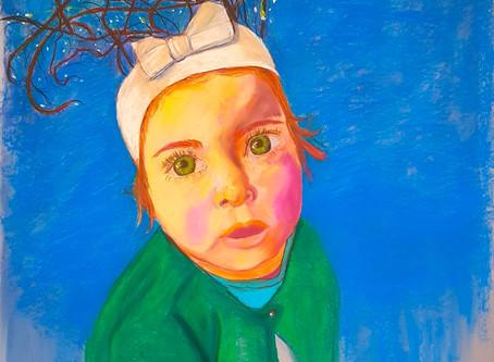 La petite fille aux bois perlés