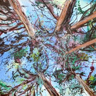 Tableau installé en France Aquarelle sur papier 24 X 32 cm