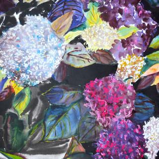 Tableau installé en France Aquarelle et encre sur papier 50 X 40 cm