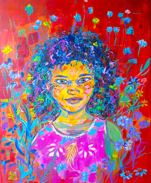 Enfant fleurie