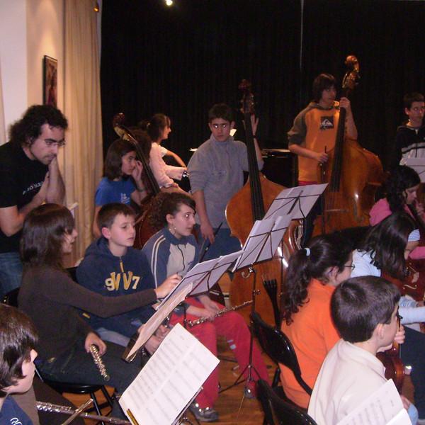 Rehersal at Medium grade Conservatory of Haro, La Rioja