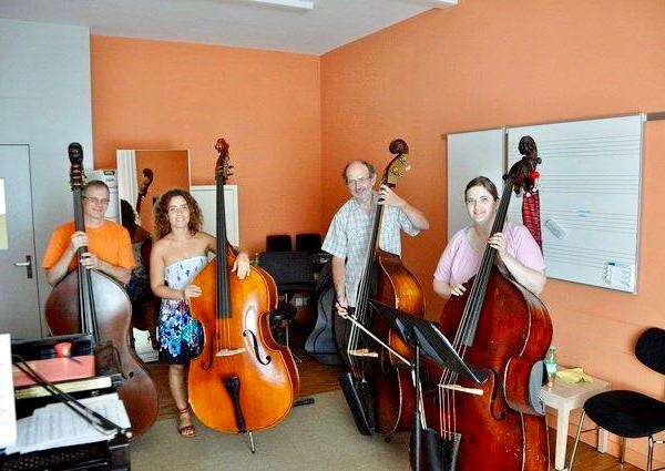 Double bass participants in Vaduz 2011