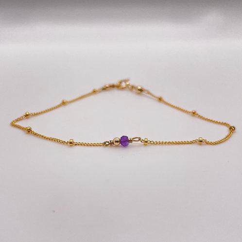 Amethyst Stone Dolcetti Bracelet