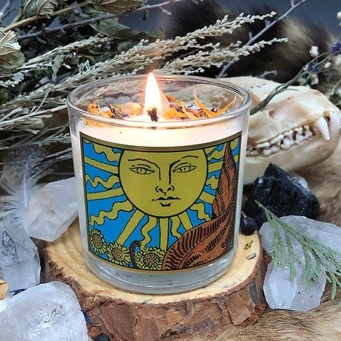 Sun Tarot 6oz Candle