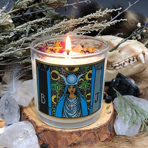 High Priestess Tarot 6oz Candle