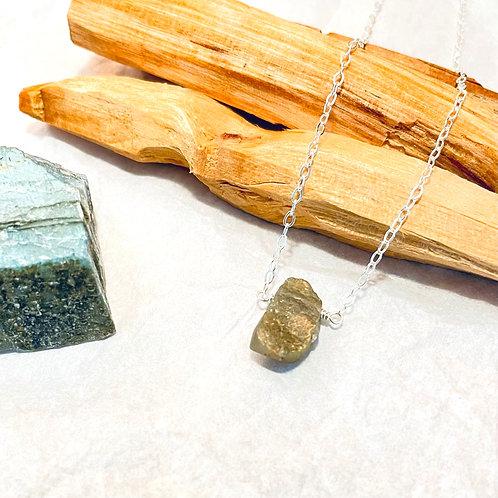 Raw Labradorite Necklace