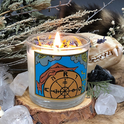 Wheel of Fortune Tarot 6oz Candle