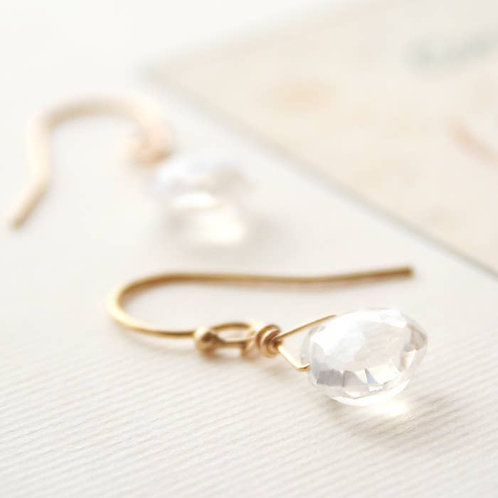 Dainty Quartz Earrings