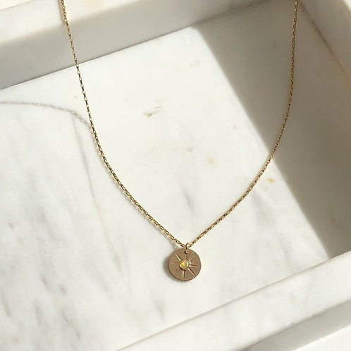 Starburst Coin Necklace