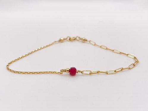 Ruby Stone ½ & ½ Dolcetti Bracelet
