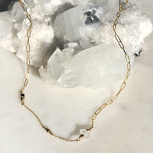 Herkimer Diamond ½ & ½ Dolcetti 14K Gold-Filled Necklace