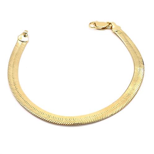 Thick Herringbone Chain Bracelet