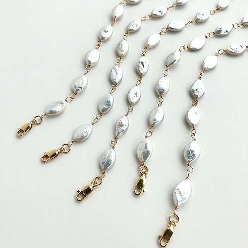 Marquis Pearl Bracelet