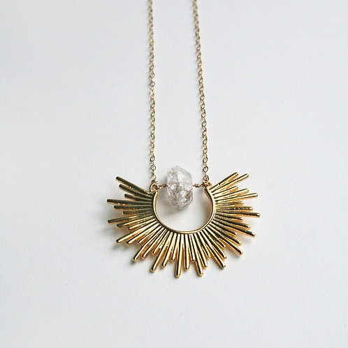 Starburst Crystal Necklace