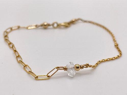 Herkimer Diamond Stone ½ & ½ Dolcetti Bracelet