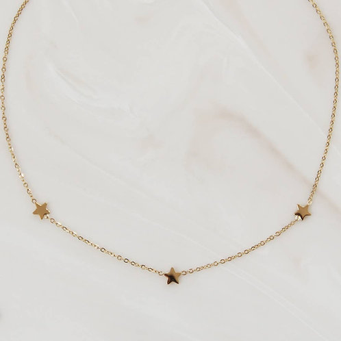 Three Star Choker or Necklace