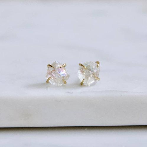 Quartz Claw Stud Earrings