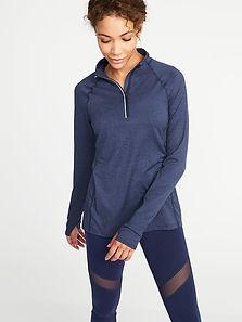 quarter zip runners pullover