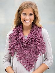 Flower Fringe Shawlette Crochet