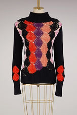 Amazing crochet graphic sweater.