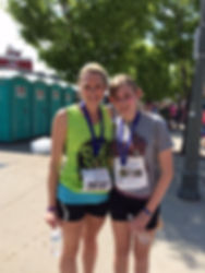 Ellen Gormley with her daughter at a race in 2014