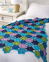 Pop-Up Poppies Crochet Blanket