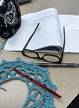 Crochet designer desk