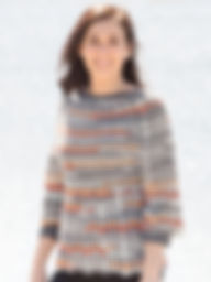Port Orange top down crocheted sweater