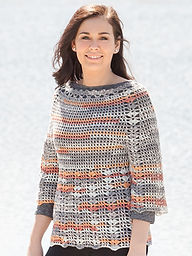 Port Orange top down crocheted sweater