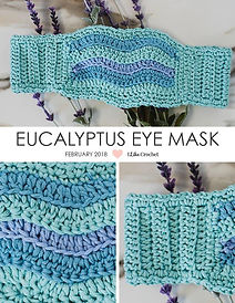 Eucalyptus Eye Mask, crochet by Ellen Gormley