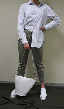Cambio- grüne, glänzende Jeans