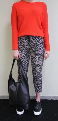 Cambio- leichte Hose mit Leopardenmuster