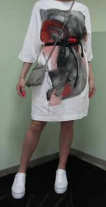 Crea- weißes Kleid mit Aufdruck