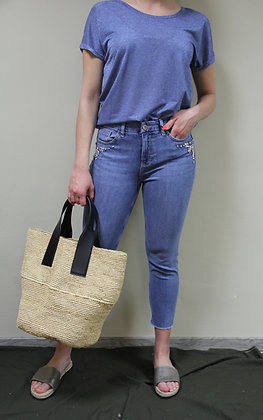 MosMosh- blaues glitzer Shirt