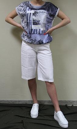 Oui- Shirt mit Palmen-Motiv