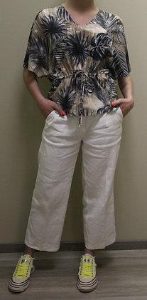 Cambio- weiße Leinenhose