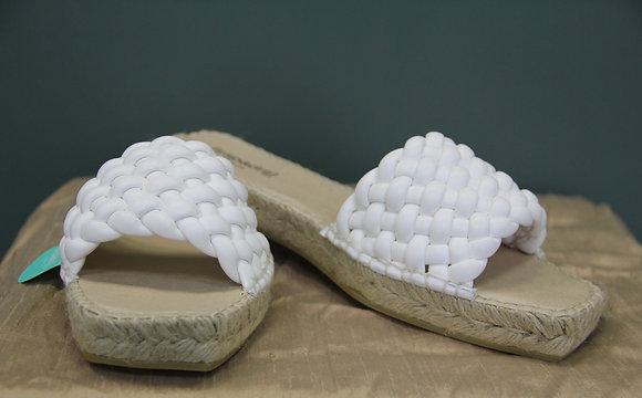 espandrij- weiße gewebte Sliders