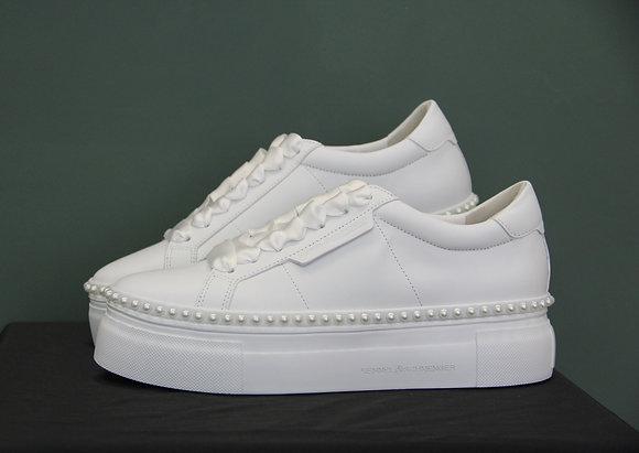 Kennel und Schmenger- weiße Sneaker mit Perlen