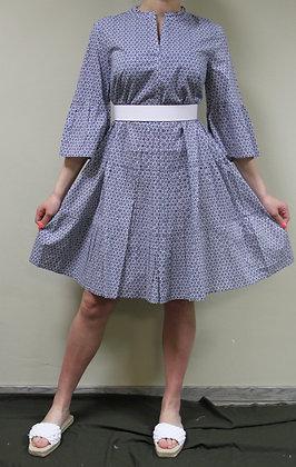 s.Oliver (red Label)- blau gemustertes Kleid