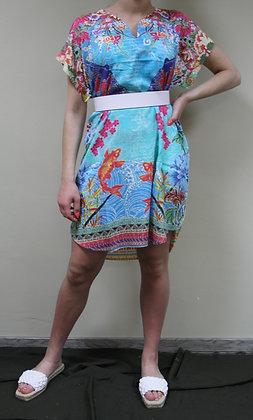 Ryy- gemustertes Kleid