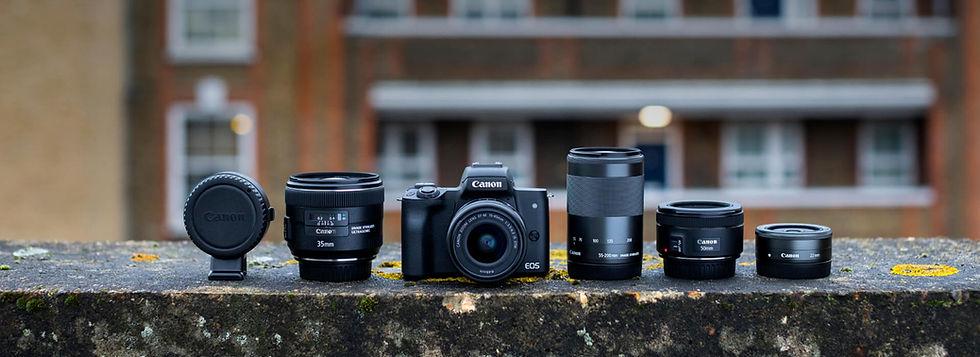 Canon-EOS-M50-mit-Objketiven-bei-Foto-Se