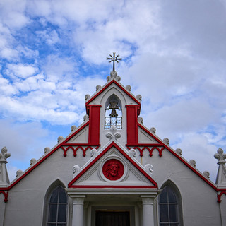 Italian Chapel, built by italian Prisoners of War during WW2 in Lamb Holm. The italians held captive on the Orkney Islands were, different to the majority of scotland, catholic. To worship god their way they decided to built their own chapel, which became a masterwork that can be visited today.
