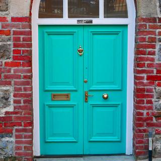 Green door, Aberystwyth